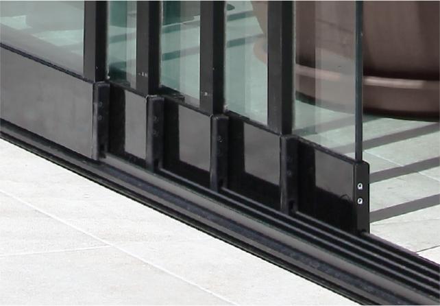 Bild von Glasschiebetür, 5-fach Schienen