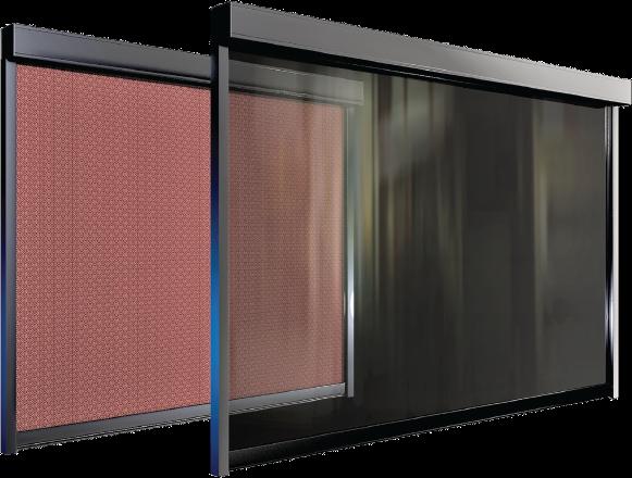 Bild von Senkrechtmarkise mit Zipp-System