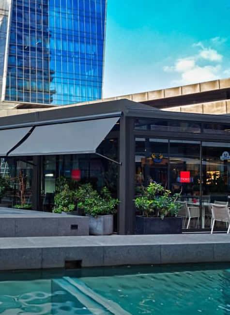 Bild für Nachricht Überdachungen von Terrassen für Hotels und Restaurants